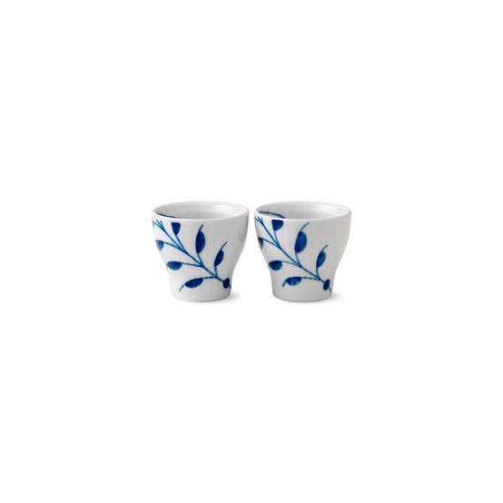 Blue Fluted Mega Egg Cup 2-Pack
