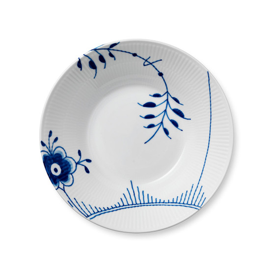 Blue Fluted Mega Pasta Bowl