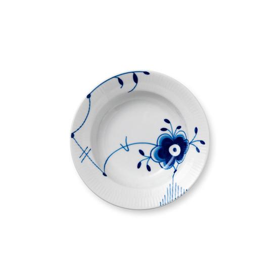 Blue Fluted Mega Small Rimmed Bowl
