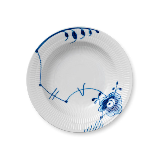 Blue Fluted Mega Soup Plate #6