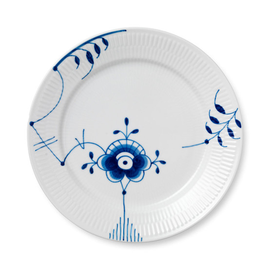 Blue Fluted Mega Dinner Plate