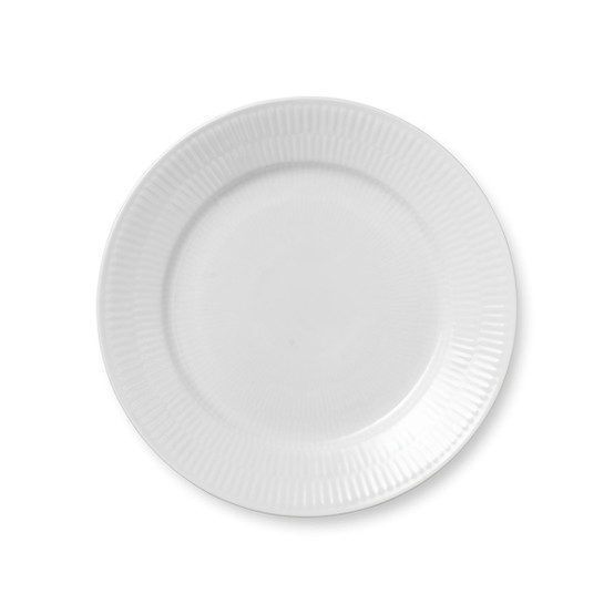 Royal Copenhagen White Fluted Plain Salad/Dessert Plate
