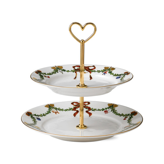 Star Fluted Christmas Etagere