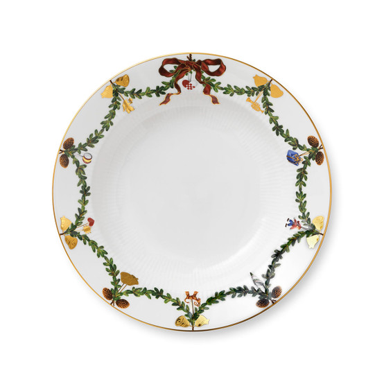Star Fluted Christmas Soup Plate