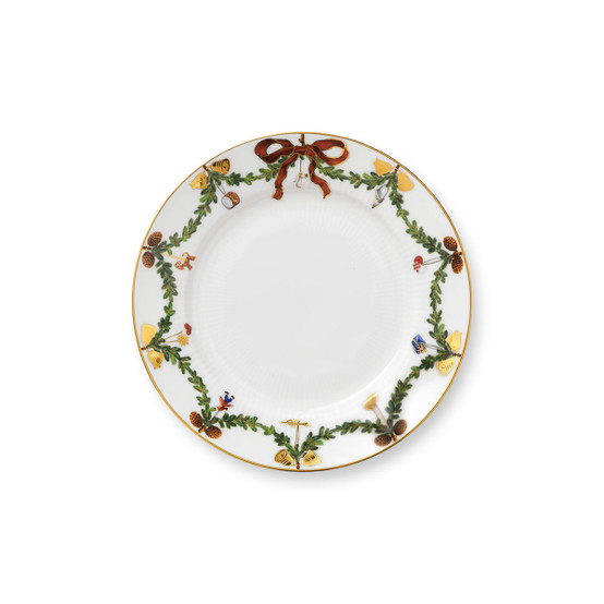 Star Fluted Christmas Bread & Butter Plate