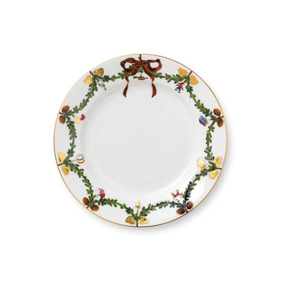 Star Fluted Christmas Salad/Dessert Plate