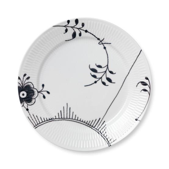 Black Fluted Mega Dinner Plate