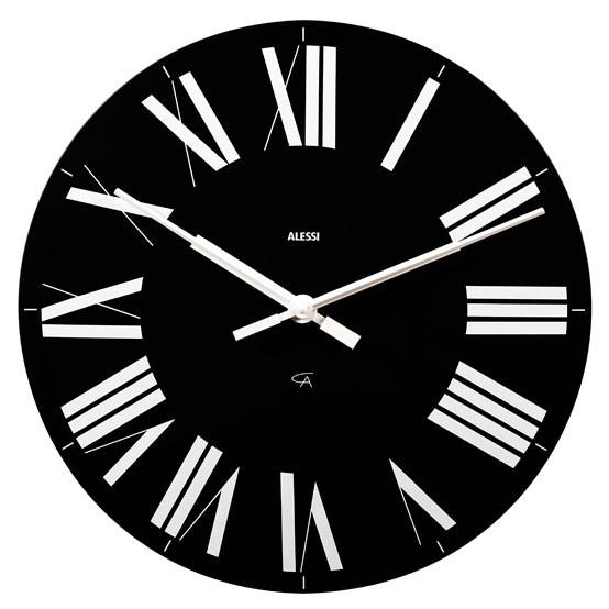 Firenze Wall Clock in Black