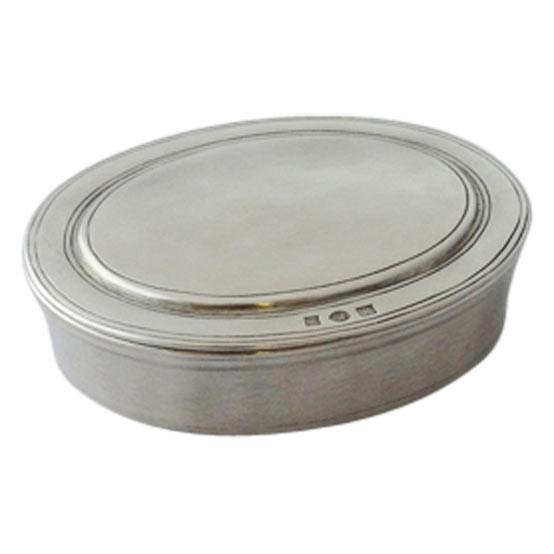Medium Oval Lidded Box