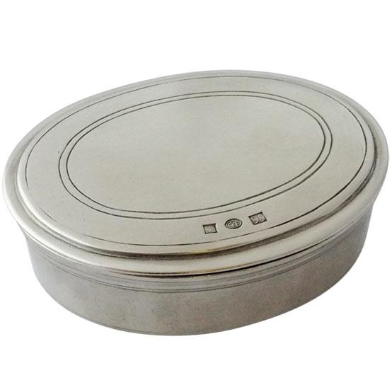 Oval Lidded Box Large
