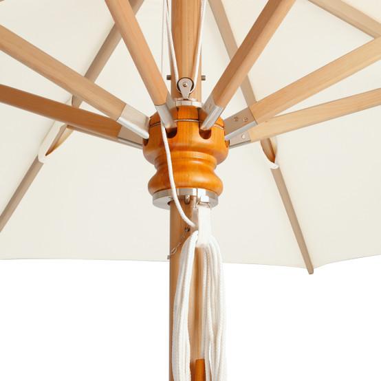 Napoli Eucalyptus Wood Frame 11.5' Circular Parasol