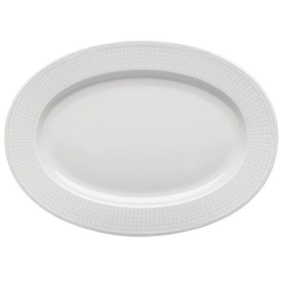 Swedish Grace Oval Plate in Snow
