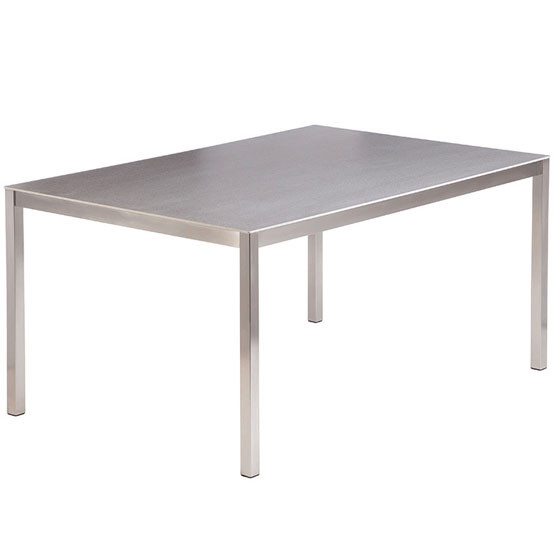 "Equinox Dining Table 59x39"" Ceramic Top"