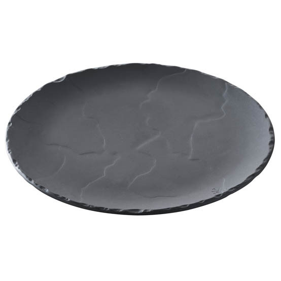 Basalt Slate Round Plate - Small
