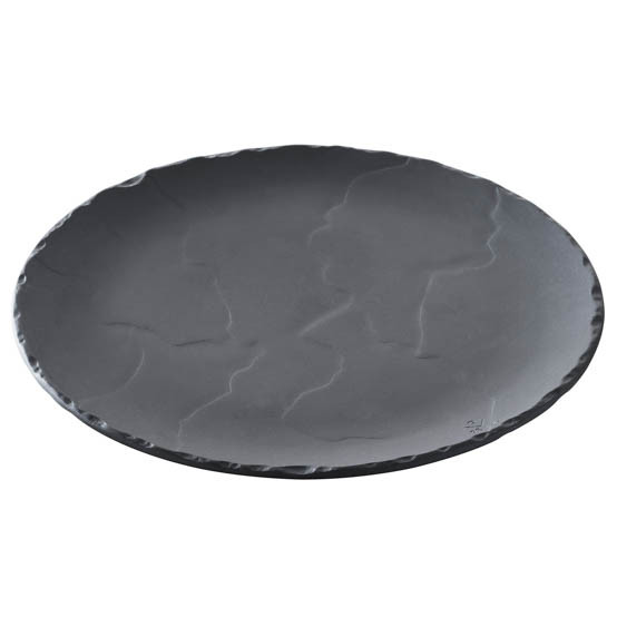 Basalt Slate Round Plate - Medium