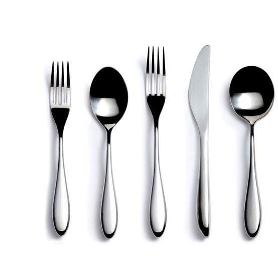 City Stainless Steel 5 Piece Place Setting