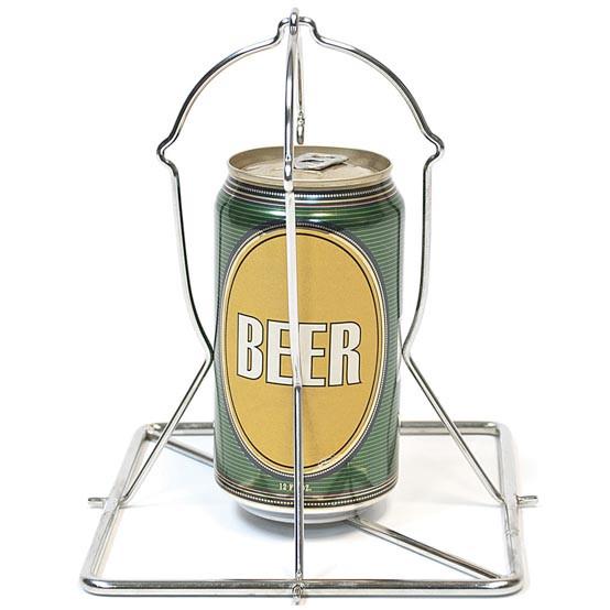 Folding Beer Can Vertical Chicken Rack