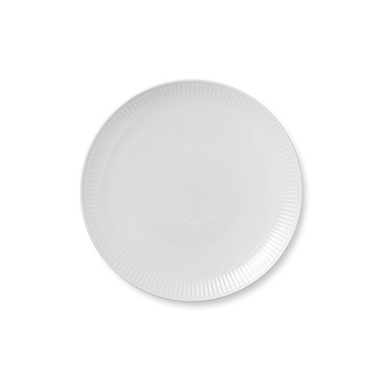 White Fluted Plain Coupe Bread & Butter Plate