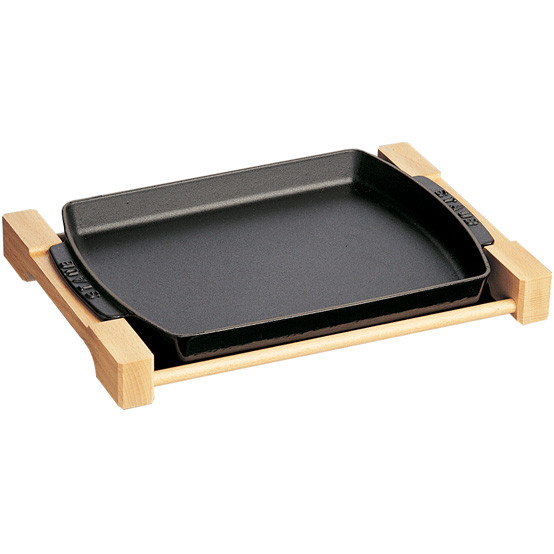 Rectangular Serving Dish with Wooden Board