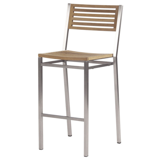 Equinox Counter Height Side Chair Teak