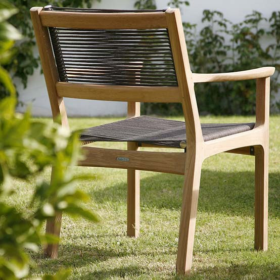 Monterey Teak Armchair in Brown
