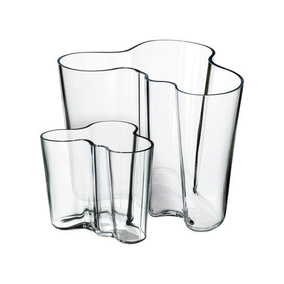 Aalto Vases in Clear, Set of 2