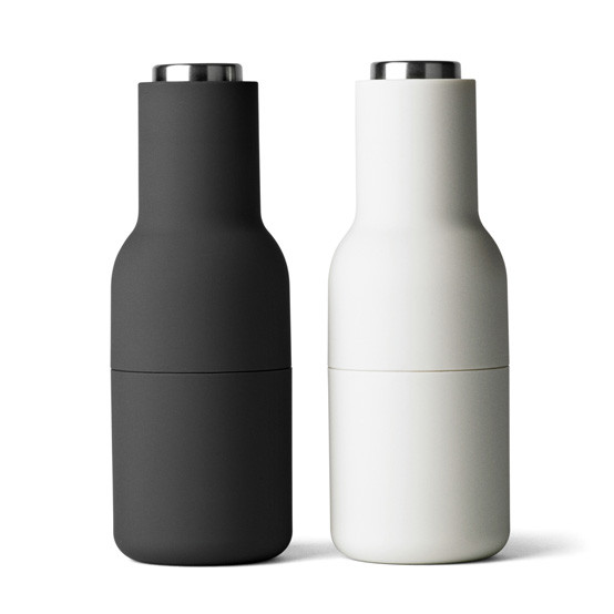 Bottle Grinder, small, Carbon/Ash 2-pack, SS Steel Top