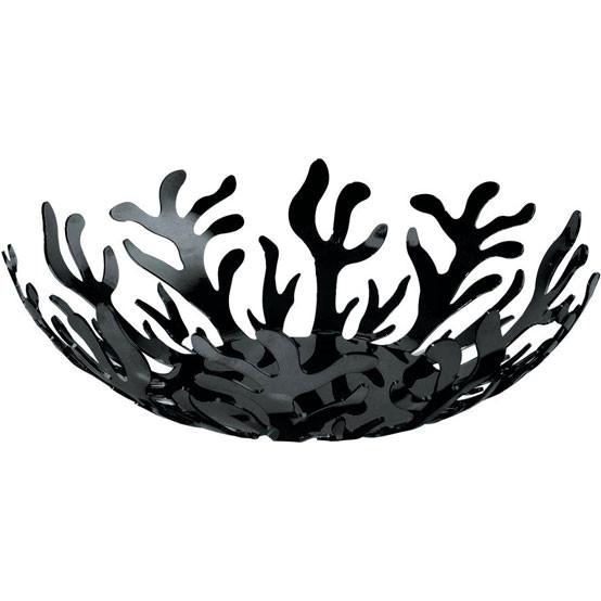 "Mediterraneo Fruit Bowl in Black 9.75"""