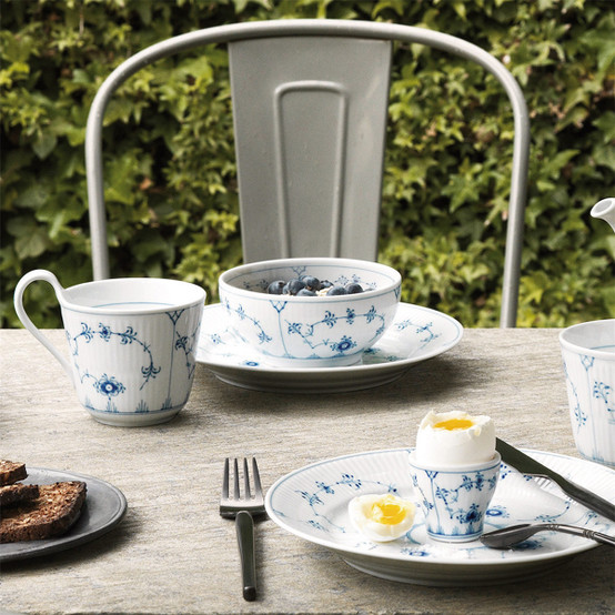 Blue Fluted Plain Egg Cup