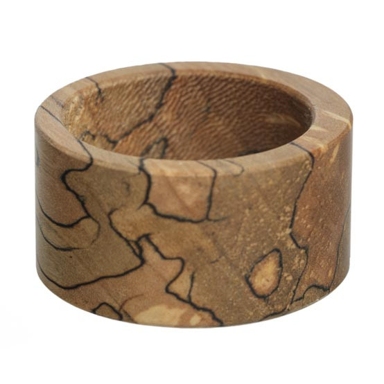 Round Spalted Napkin Rings