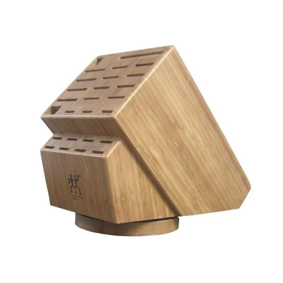 26-slot Bamboo Swivel Knife Block