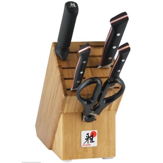 Red Morimoto Edition 6 Piece Knife Block Set