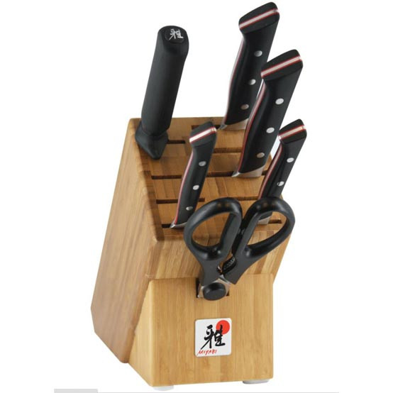 Red Morimoto Edition 7 Piece Knife Block Set