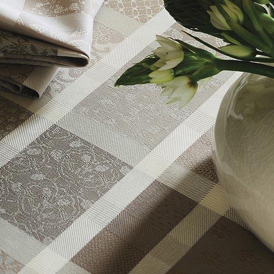 "Mille Ladies Argile Coated Tablecloth Round 69"""