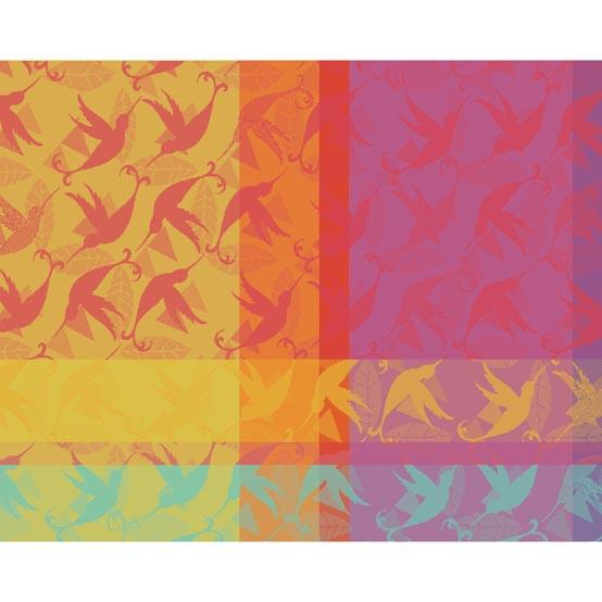 Mille Colibris Antilles Coated Placemat 16 x 20