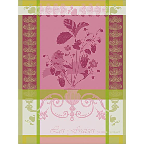 Fraisier Rose Kitchen Towel