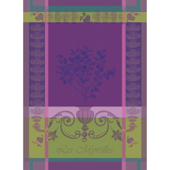 Myrtilles Violet Kitchen Towel