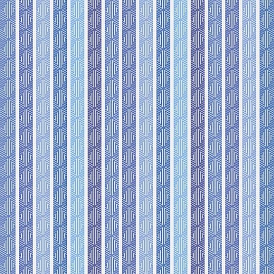 Mille Zigzag Coated Fabric in Aqua (Price/Inch)