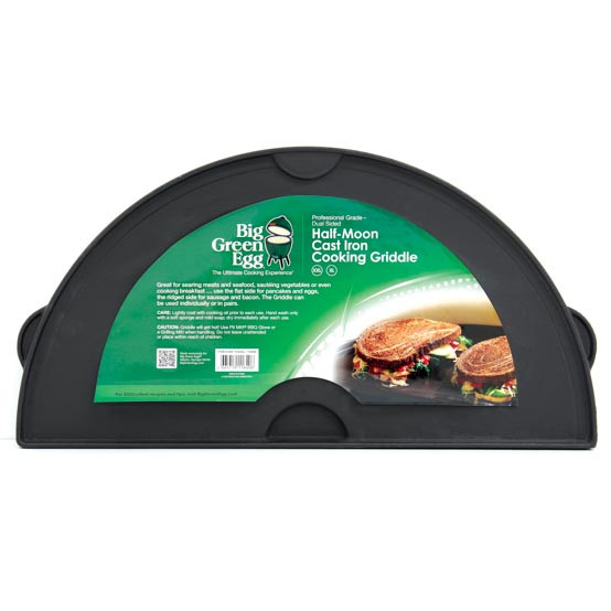 Half Moon Cast Iron Dual Side Griddle for XL and 2X Eggs