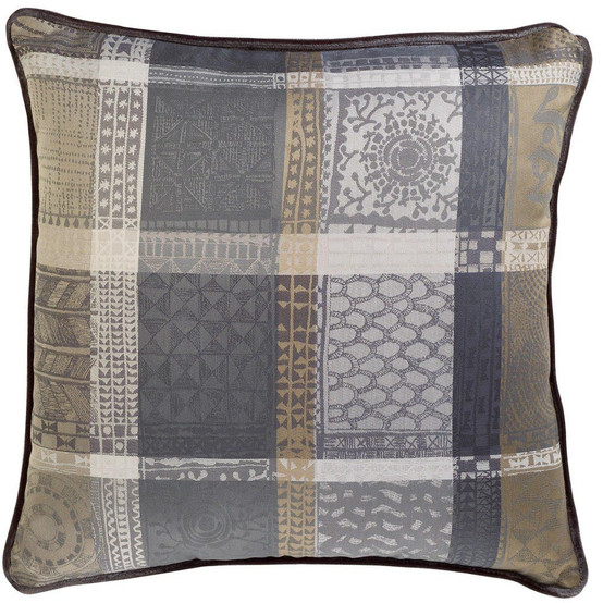 Mille Wax Cendre Cushion Cover 16'' x 16''