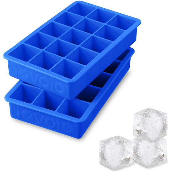 Perfect Cube Ice Tray in Capri Blue (Set of 2)