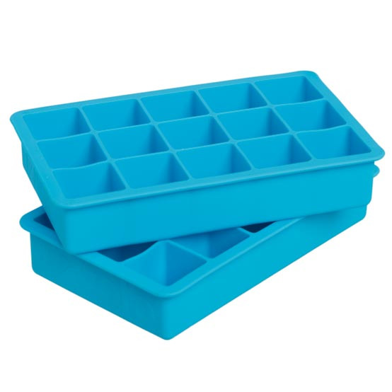 Perfect Cube Ice Trays Set of Two - Ice Blue