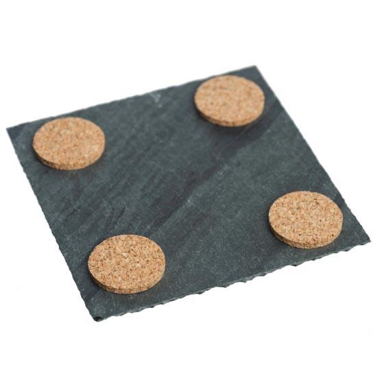 Slate Coasters in Strata, Set of 4