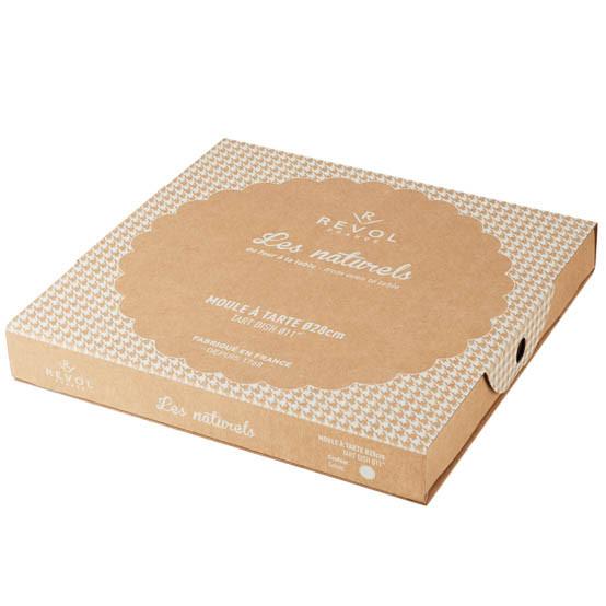 Giftbox Tart Dish Sesame Grey