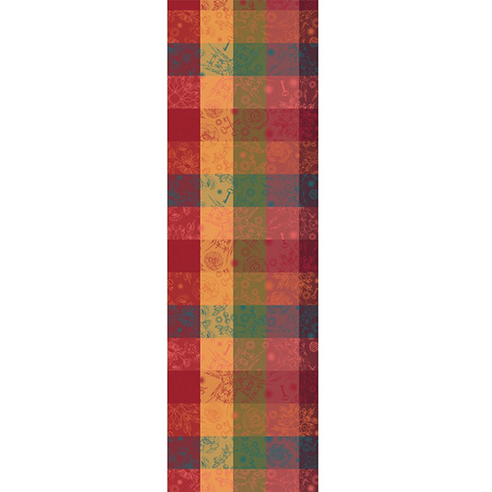 Mille Alcees Litchi Table Runner