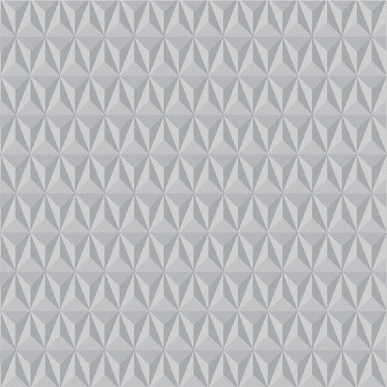 Mille Delta Coated Fabric in Silver (Price/Inch)
