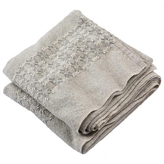 Fair Isle Day Blanket in Grey