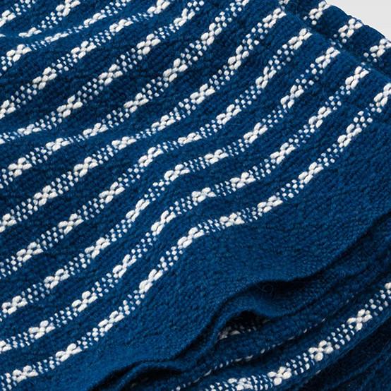 Textured Stripe Day Blanket in Ocean