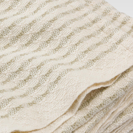 Textured Stripe Day Blanket in Stone