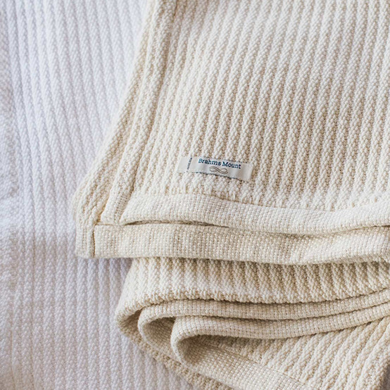 Bedford Cord Organic Cotton Baby Blanket in Natural